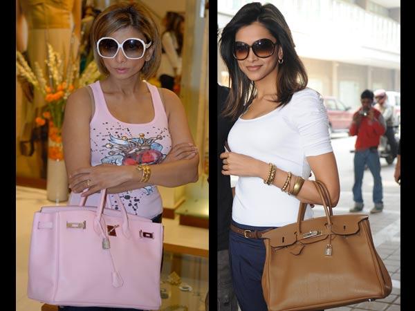 Ramona Narang and Deepika Padukone with their Hermes bags. Photo: Luxpresso
