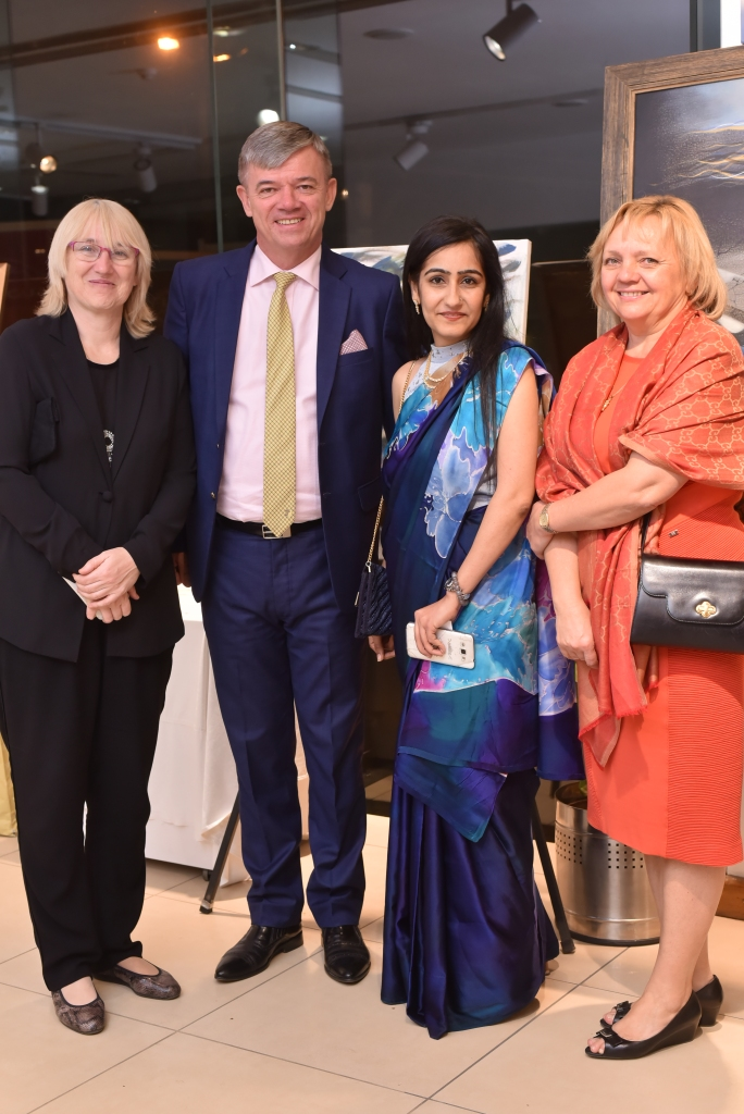H.E. Milan Hovorka- Ambassador of Czech Republic with Nidhi Seth