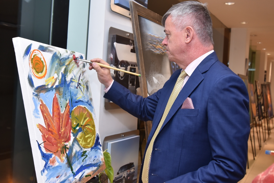 H.E. Milan Hovorka painting (Ambassador of Czech Republic)