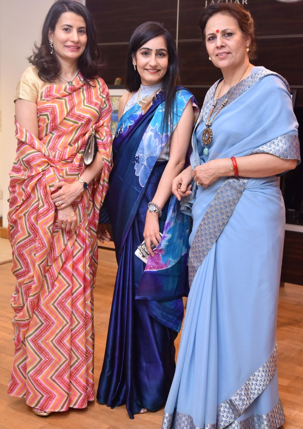 Maharajkumari Vidita Singh Barwani, Nidhi Seth & Kunwarani Bharti Singh of Sahanpur