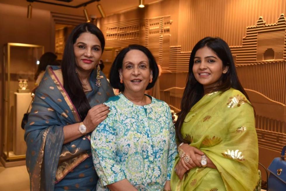 Sunita Shekhawat with HH Rajshree- Kumari Bikaner and Niharika Shekhawat