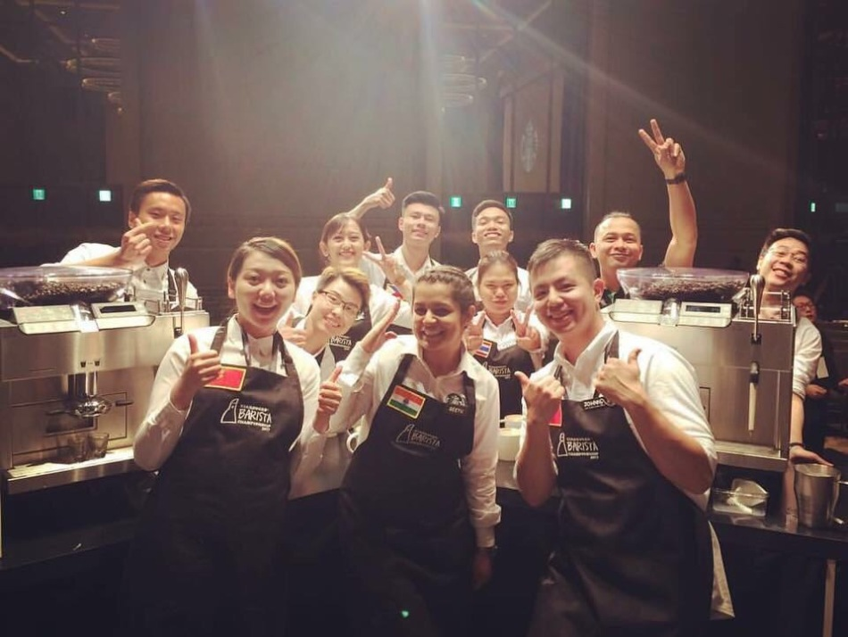 Geetu Mohnani with other participants at the Coffee Championship in Taiwan