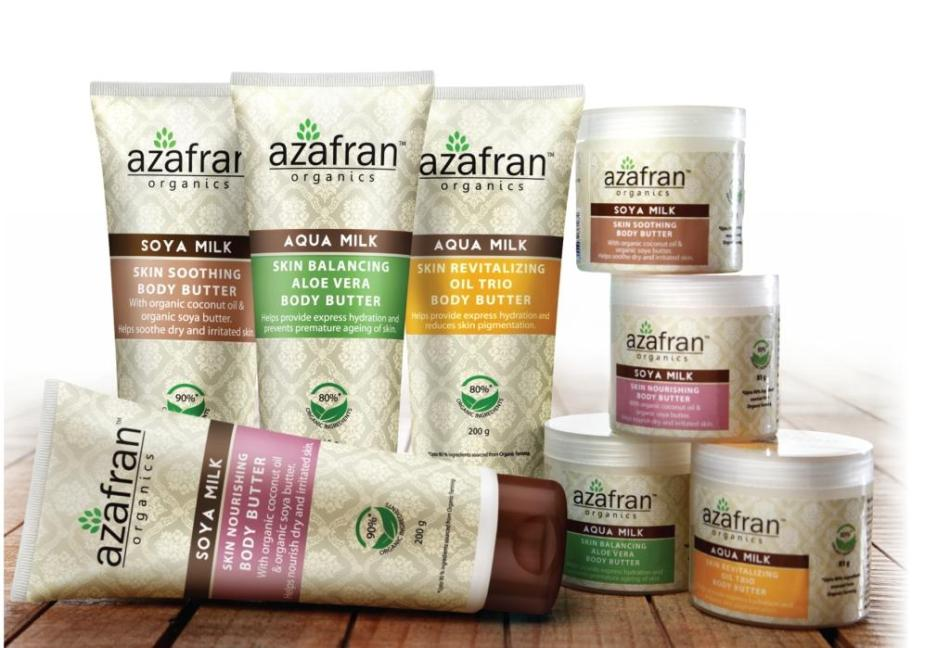 Azafran Body Butter range