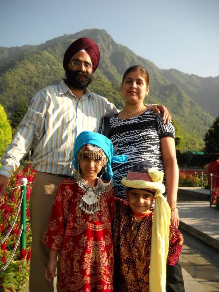 sanmeet, husband and two kids