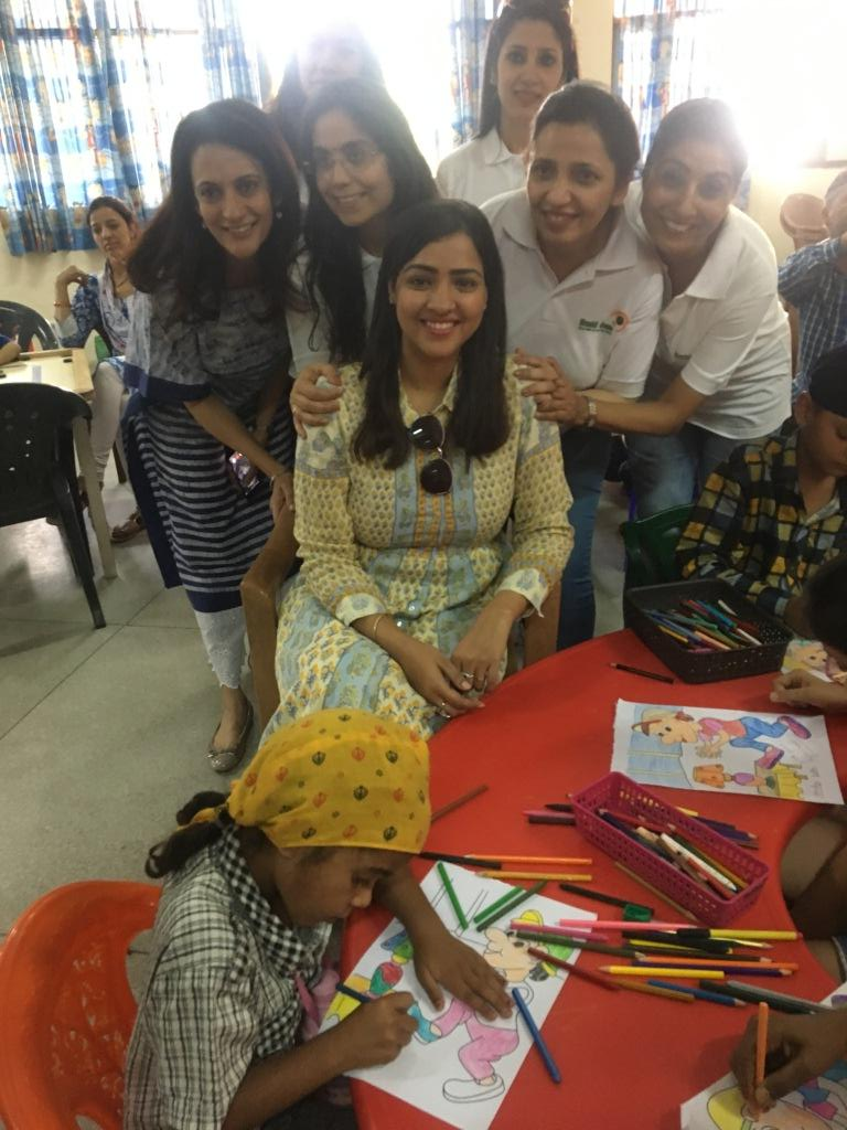 Priyanka Raina at PGI Chandigarh - Nanhi Jaan NGO visit