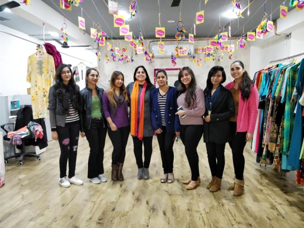 Sheetal Kapoor with her fashion team at Shree