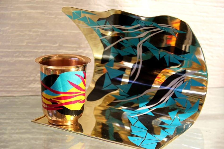 Chamak Patti copper goblet and C-curve platter.jpg