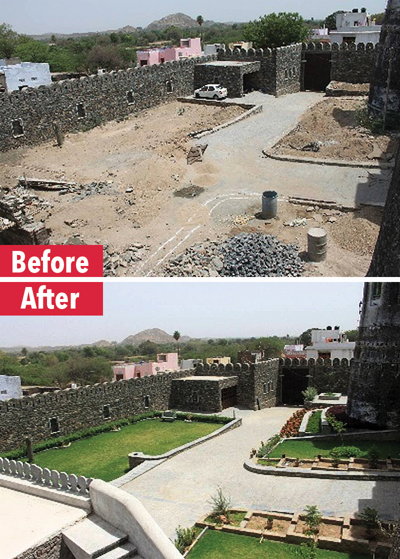 Before-After Fort Meja entrance
