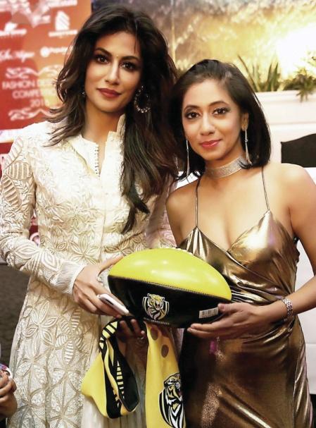 With Chitrangda Singh