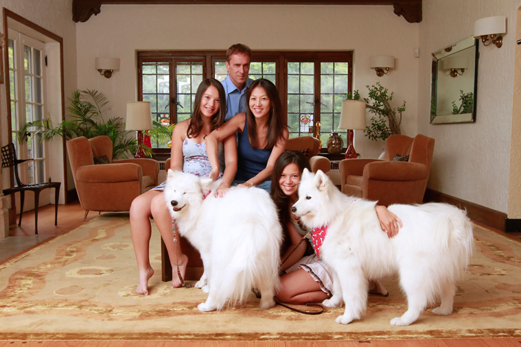 Amy Chua and family