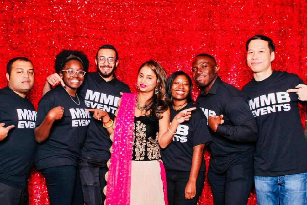 Manisha with team MMB