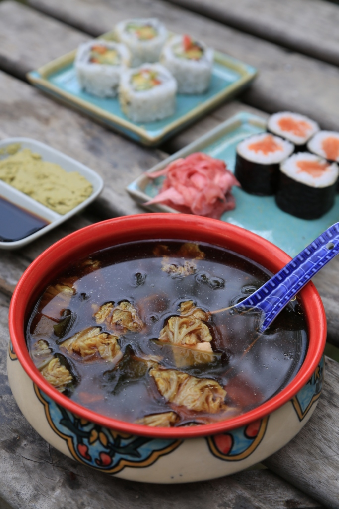 miso soup and sushi .JPG