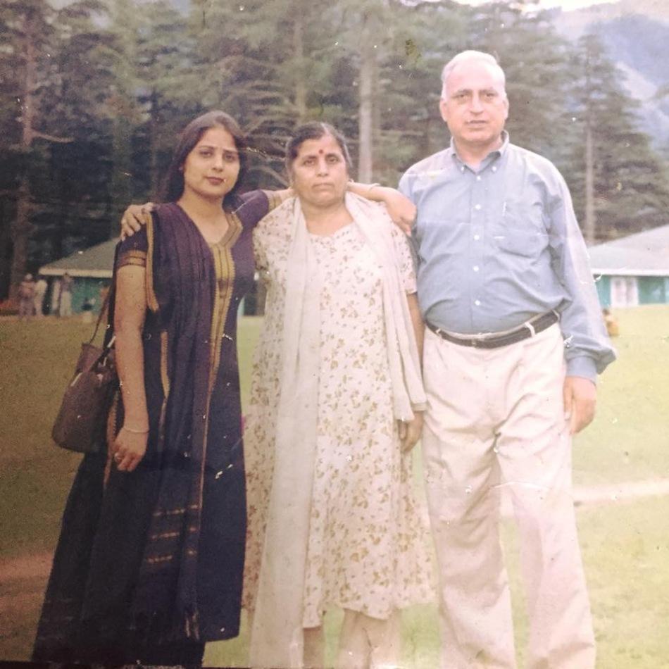 Meenakshi with her parents