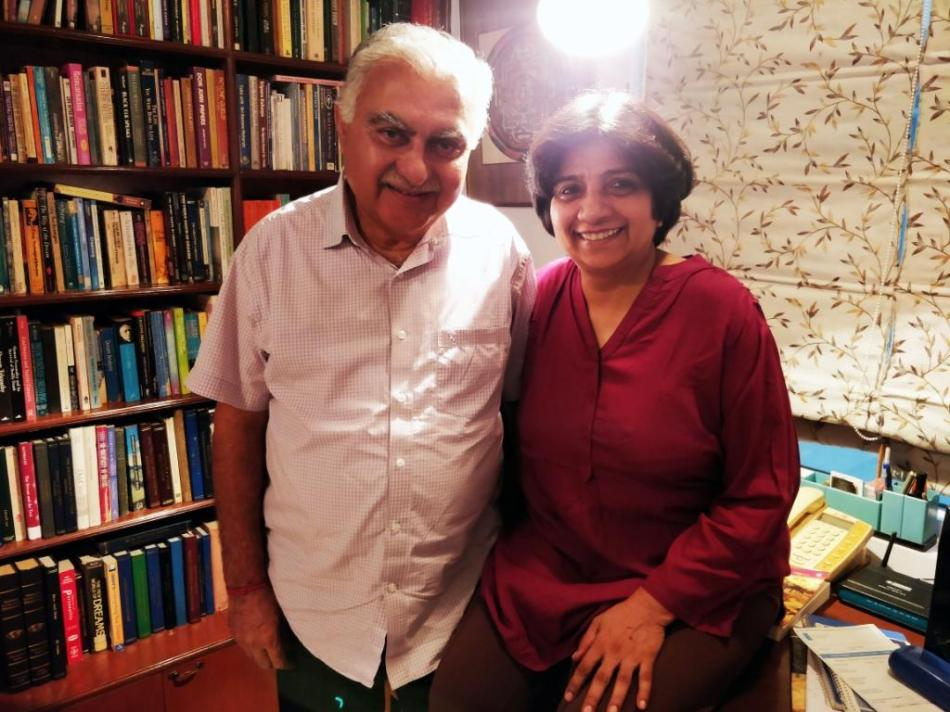Madhu Tandon and husband