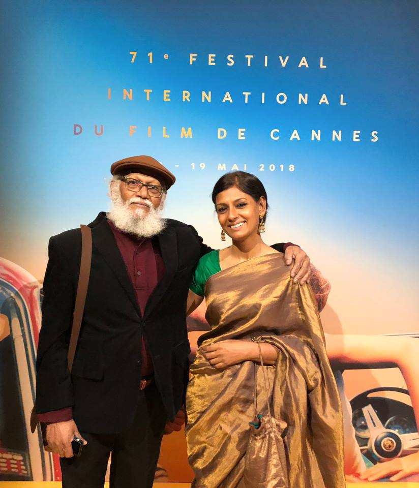 Nandita Das at Cannes with dad