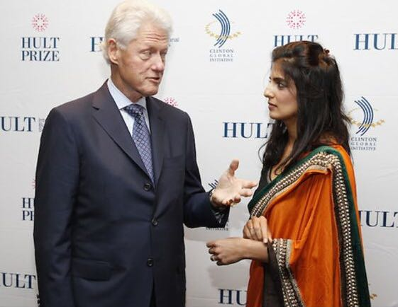 Akanksha and Bill Clinton - Hult Prize Winner 2011 Awarded $1m.jpeg