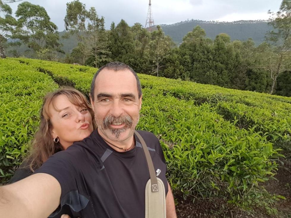 Harry and Julie at Tea plantation