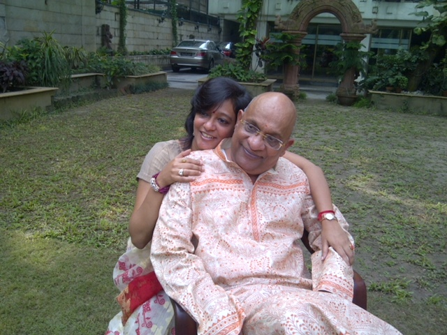 priti sureka with her dad