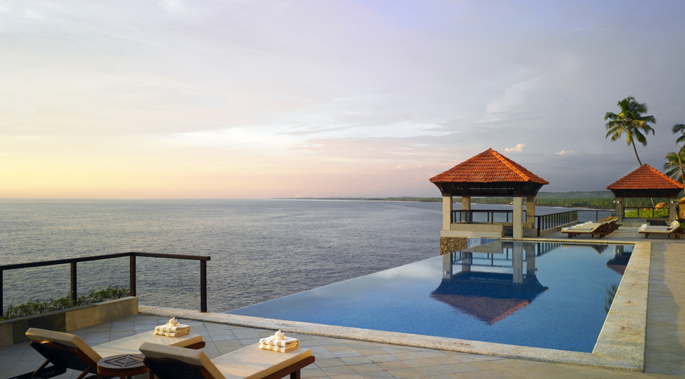 View from the rooftop of the Leela in Kovalam