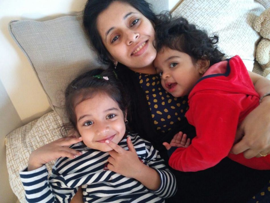 Neha Misra and kids