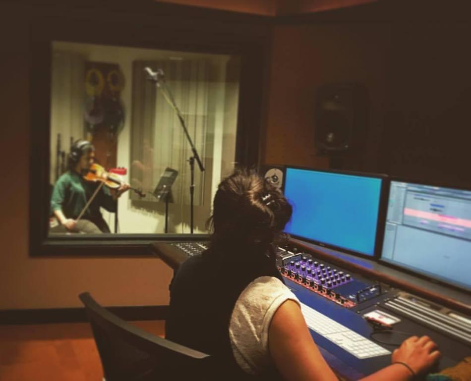 Vasundhara Gupta recording.jpg