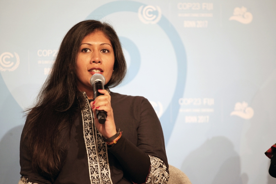 ajaita-shah-in-panel-at-cop23-in-bonn,-germany