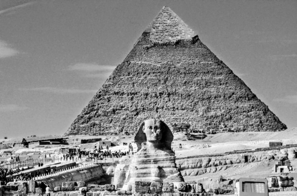 Egypt sphinx and pyramids
