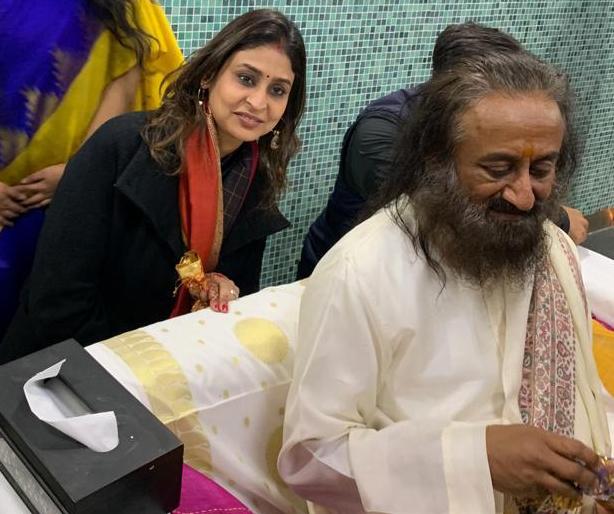 Mamta with Sri Sri Ravi Shankar
