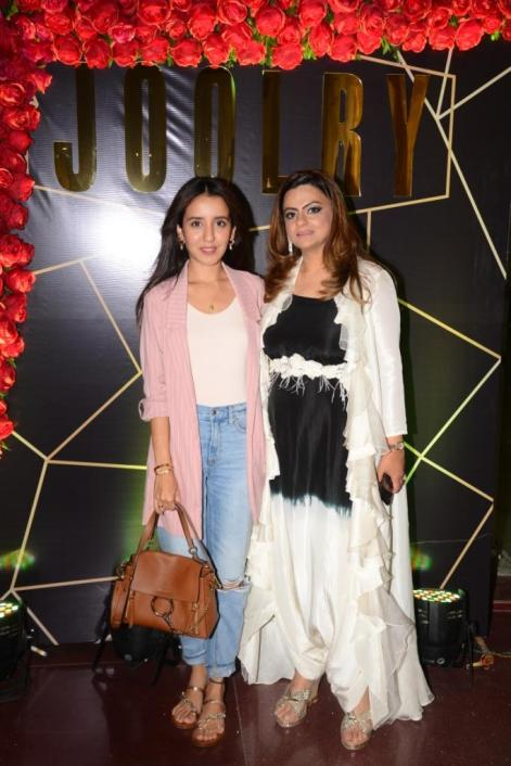 L-R: Anushka Mulchandani with Karishma Mehra