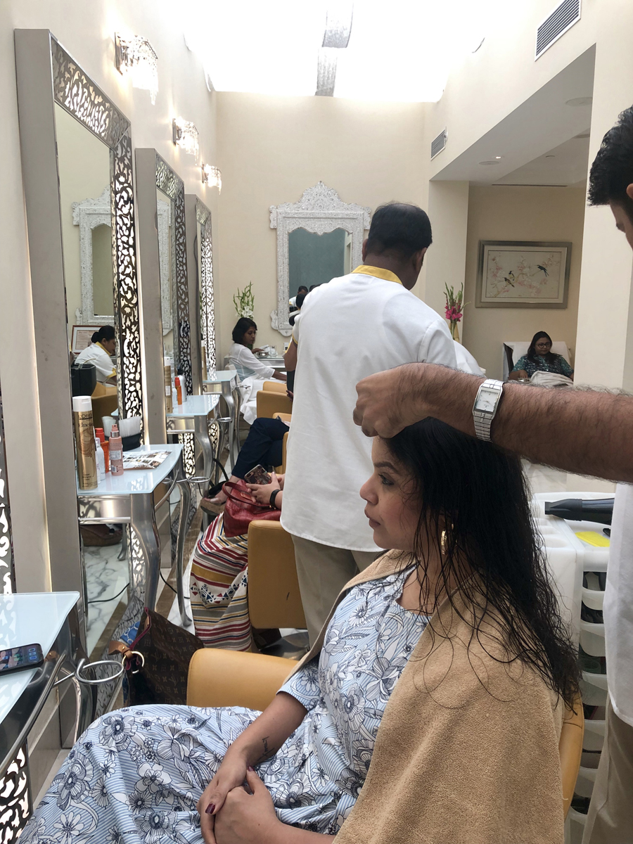 Kaveri Gets a Blow Dry