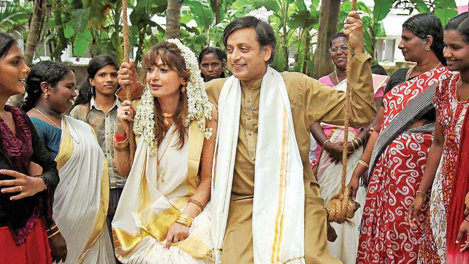 Sunanda and Shashi Tharoor wedding