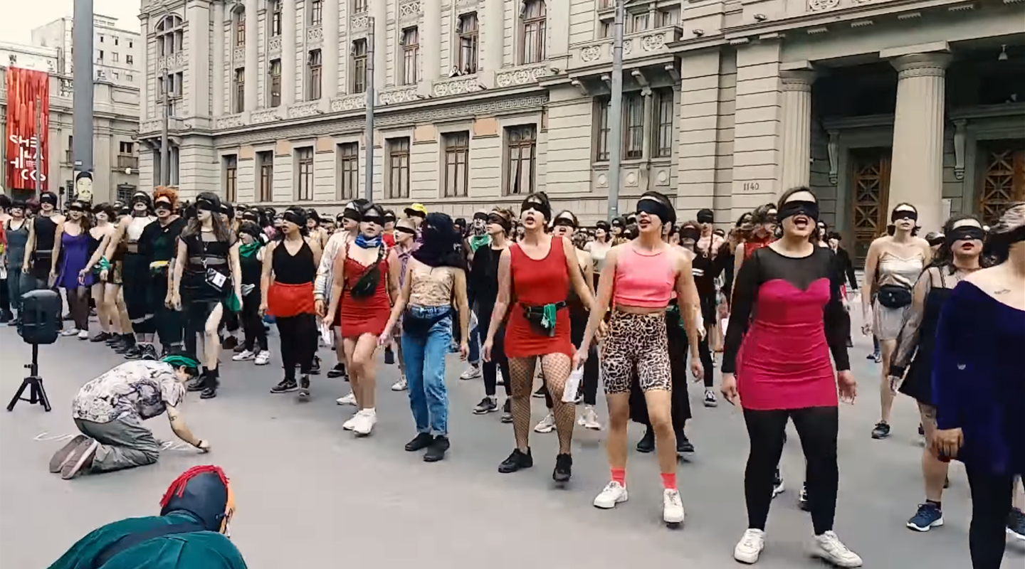 """The Rapist Is You!"" Santiago Feminists Stage Powerful Protest Against Sexual Assault"