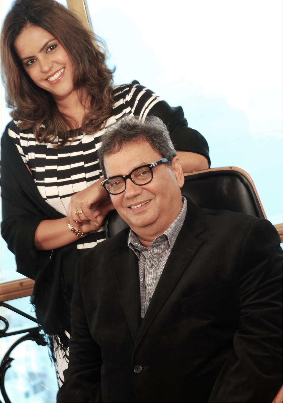 Meghna Ghai and Subhash Ghai