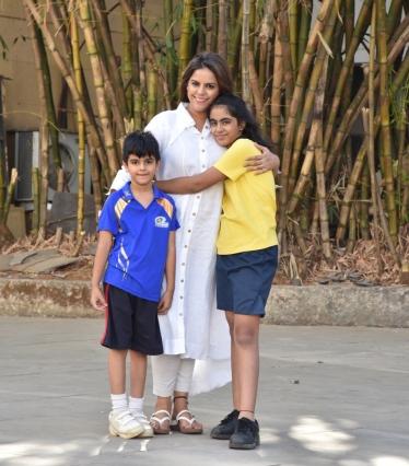 Meghna Ghai Puri & kids