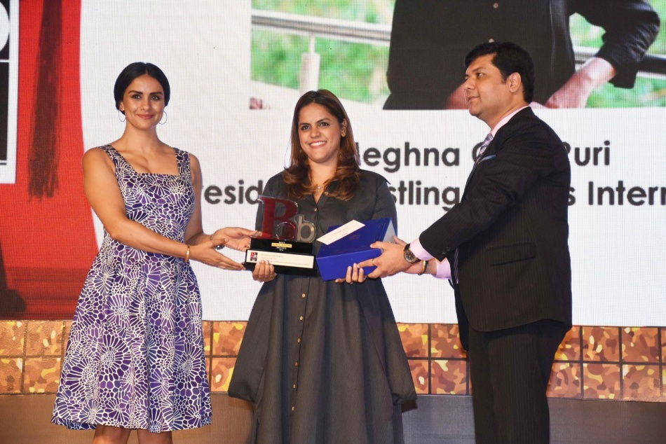 Meghna Ghai Puri Receiving the ET Awards 2019