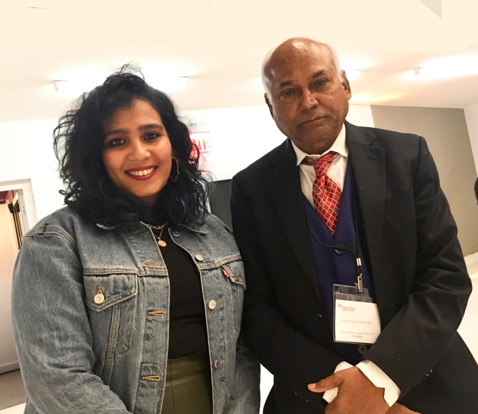 Yashica-dutt-with--scholar-Kancha-Ilaiah